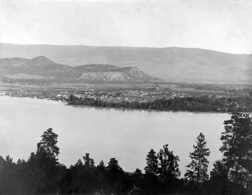 Landscape of Kelowna, 1909  in British Columbia, Canada free photo