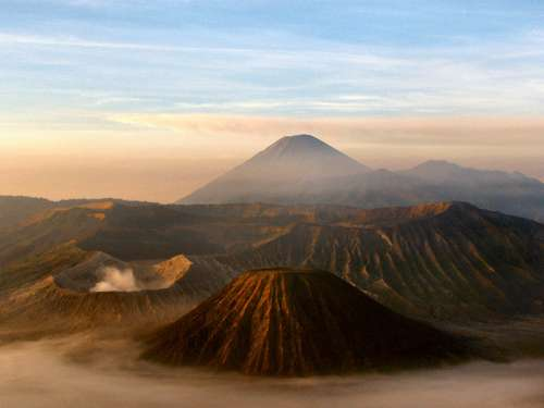 Landscape of Mount Bromo on the Island of Java, Indonesia free photo