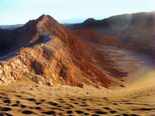Landscape of the hills and Desert in Chile free photo