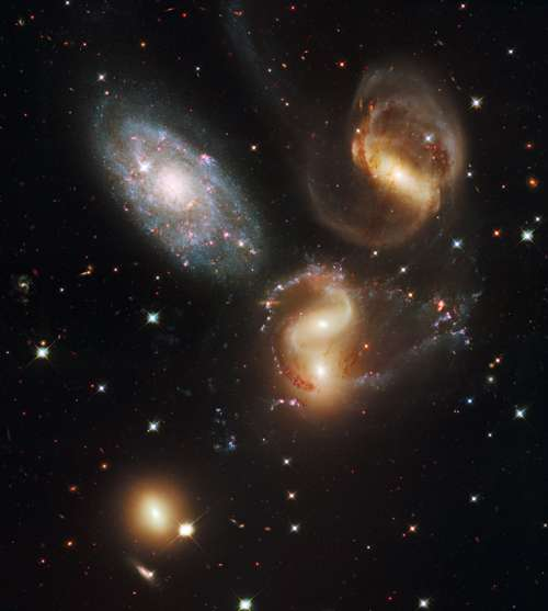 Large Group of Galaxies free photo