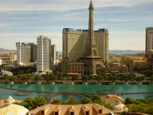 Las Vegas City View with Paris Hotel in front in Nevada free photo