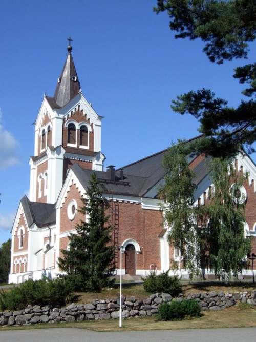 Lumijoki Lutheran Church Building in Finland free photo