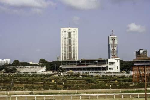 Mahalaxmi Racecourse building in Mumbai, India free photo