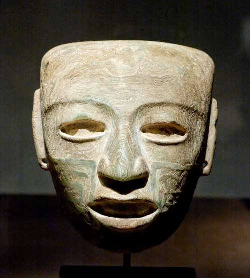 Marble Mask of Teotihuacan, Mexico free photo
