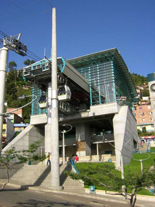 Medellín's Metrocable in Colombia free photo