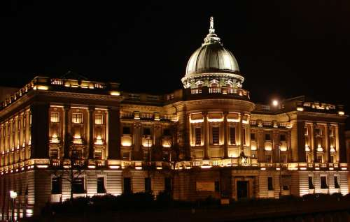 Mitchell Library at Night free photo