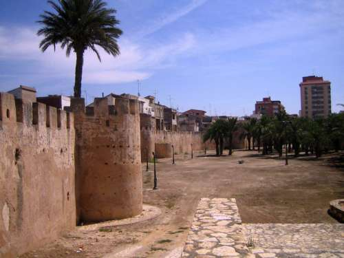 Moorish walls in Alzira, Spain free photo