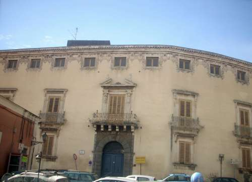 Musmeci Palazzo, located in Piazza San Domenico in Acireale, Italy free photo