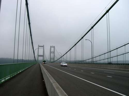 Narrows Suspension Bridge in Tacoma, Washington free photo