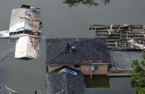 New Orleans, Louisiana after the flooding of Hurricane Katrina  free photo