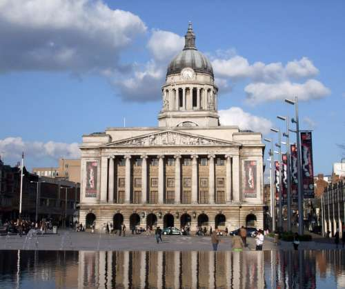 Nottingham Council House in England free photo