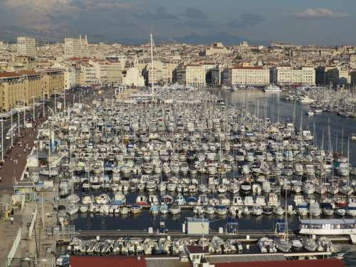 Overlooking the Port of Marseille, France free photo