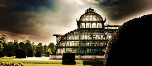 Palm House HDR in Vienna, Austria free photo