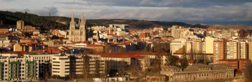 Panoramic of Burgos, view facing north Cityscape in Spain free photo