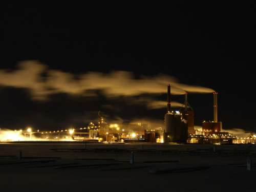 Paper manufacturing plant in Oulu, Finland free photo