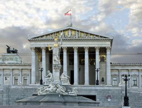 Parliament building in Vienna, Austria free photo