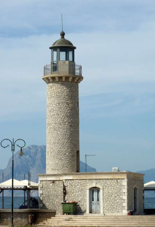 Patras Lighthouse in Greece free photo