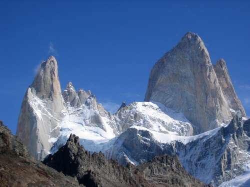 Peaks of Cerro Torre in Argentina free photo