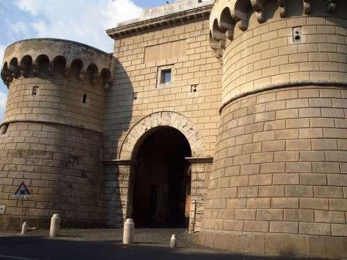 The Porta Napoletana in Velletri, Italy free photo