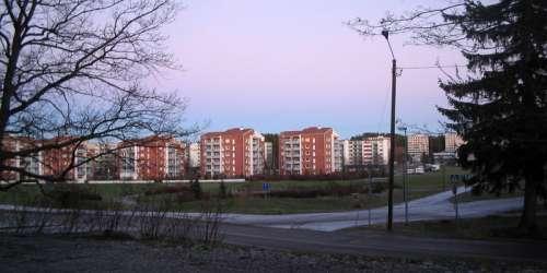 Residential blocks in Kaarina in Finland free photo