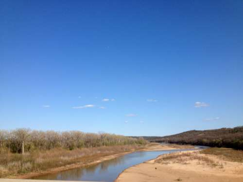River and Landscape in Oklahoma free photo