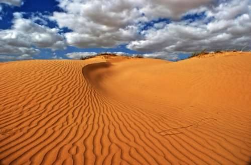 Sand Dunes landscape with sky and clouds in Israel free photo