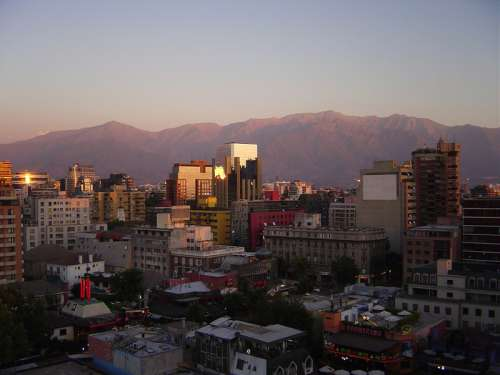 Santiago in summer cityscape in Chile free photo