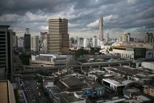 Siam Square and Pathumwan area in Bangkok, Thailand free photo