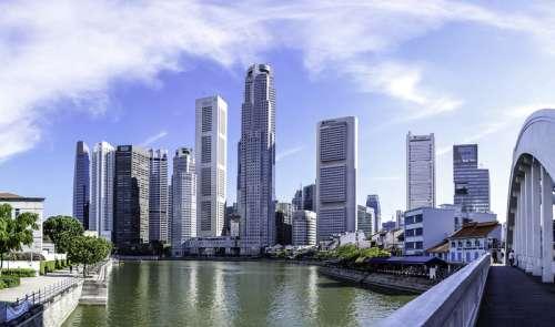 Singapore buildings, skyscrapers, and skyline  free photo