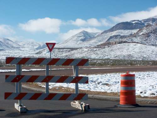 Snow on the roads from El Paso to the Franklin Mountains, in Texas free photo