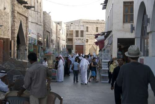Souq Waqif, Doha, Qatar streets free photo