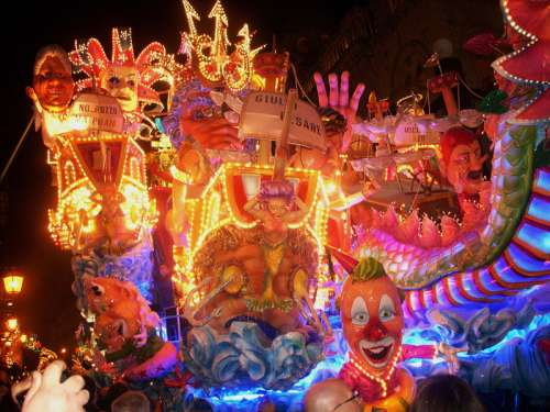 Spectacular floats during the carnival season in Acireale, Italy free photo