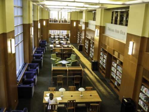 Study Room in Bostock Library at Duke University free photo