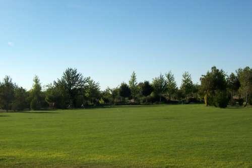 Suburban Parque La Pulgosa in Albacete, Spain free photo