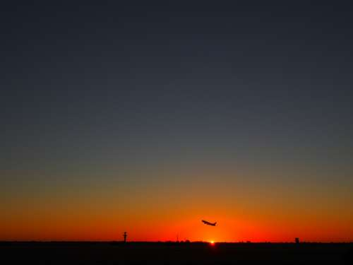 Sunset at the Airport in Adelaide, Southern Australia free photo