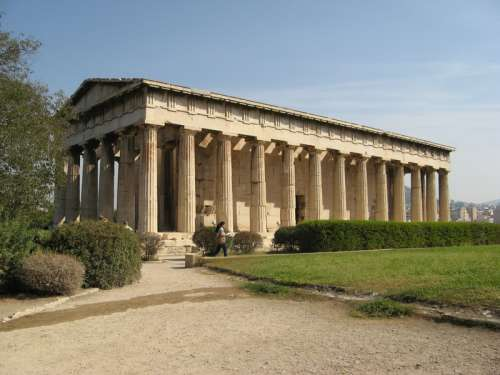 Temple of Hephaistos in Athens, Greece free photo