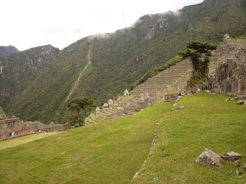Terraços de Machu Picchu, Peru free photo
