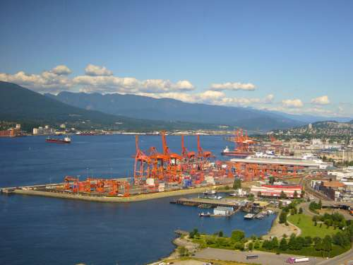 The Docks of Vancouver in British Columbia, Canada free photo
