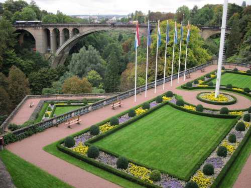 The gorges and Adolphe Bridge in Luxembourg free photo