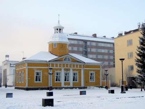 The old Town hall in Kajaani, Finland free photo
