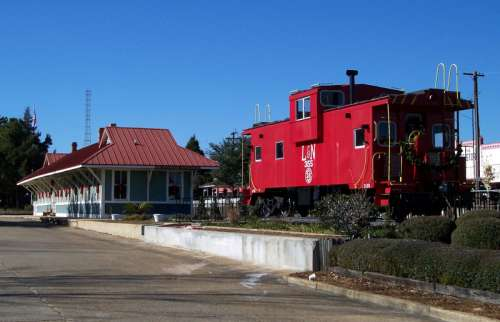 Train Caboose in Defuniak Springs, Florida free photo