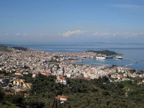 View of Mytilene, Greece free photo