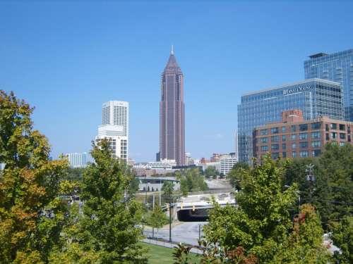 View of the high towers of Atlanta, Georgia free photo