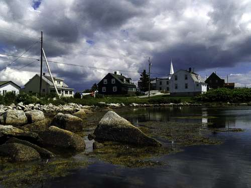 Village of Prospect landscape in Halifax, Nova Scotia free photo
