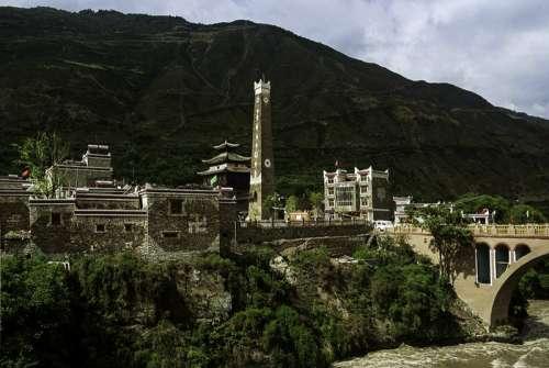 Village Worixiang in Sichuan, China free photo