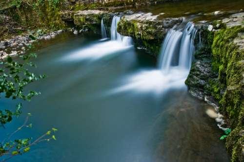Waterfalls in Wales free photo