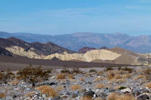 Zabriskie point at Death Valley National Park, Nevada free photo