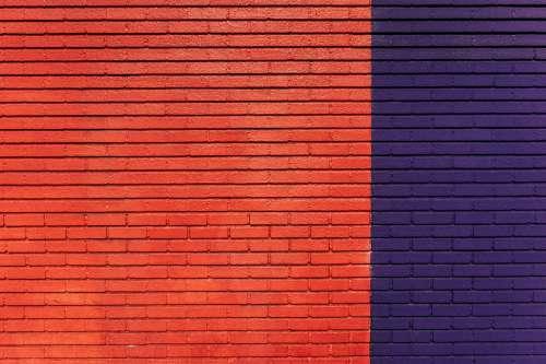 brick wall bright colors dtla