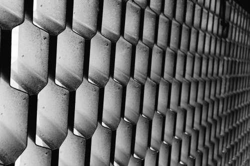 honeycomb metal pattern