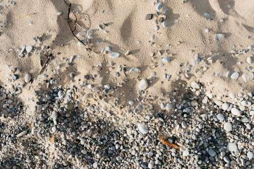 beach michigan rocks